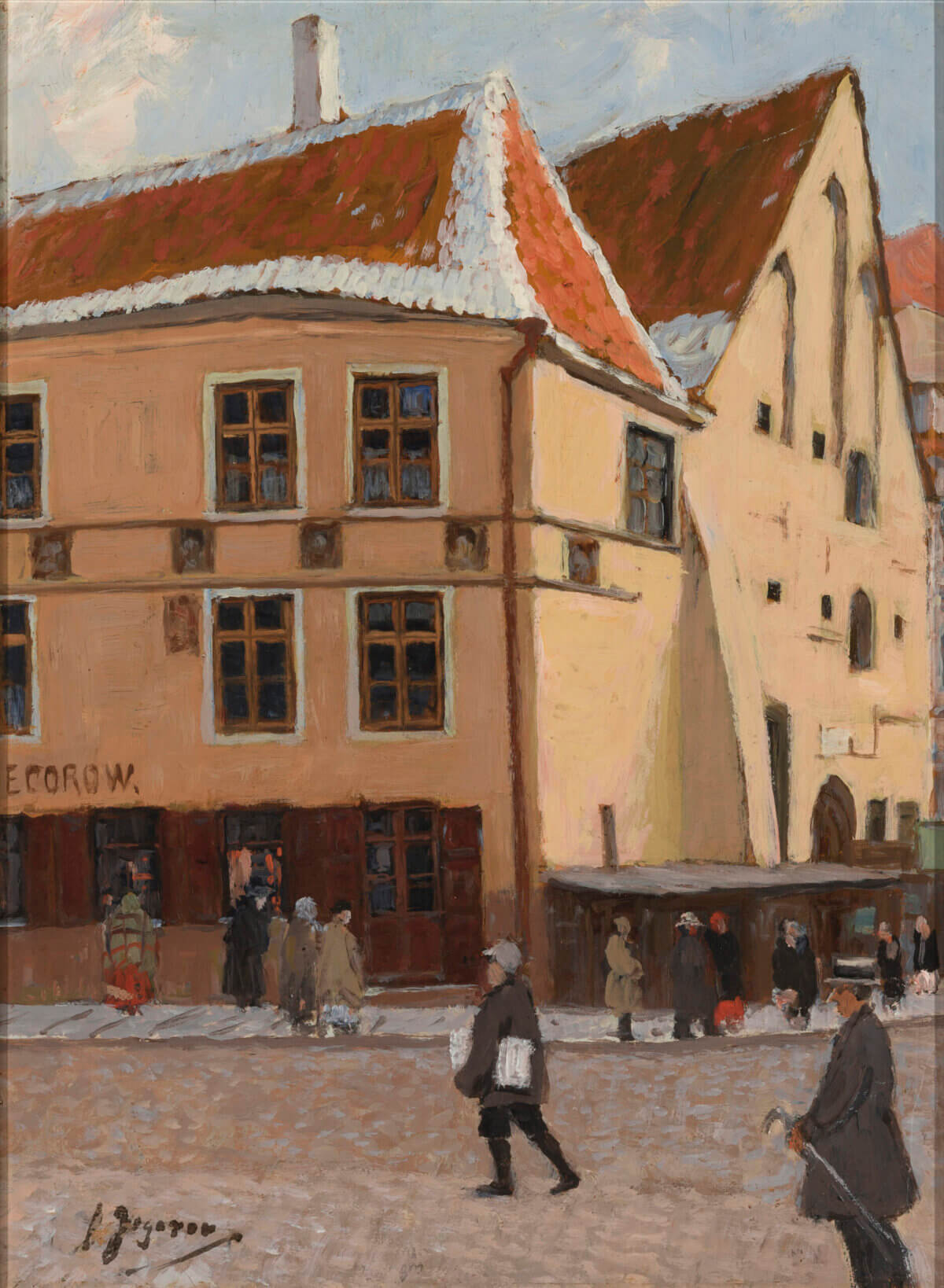 """56. ANDREI JEGOROV """"Raekoja plats/ Vanaturu kael"""" 1920. aastad."""