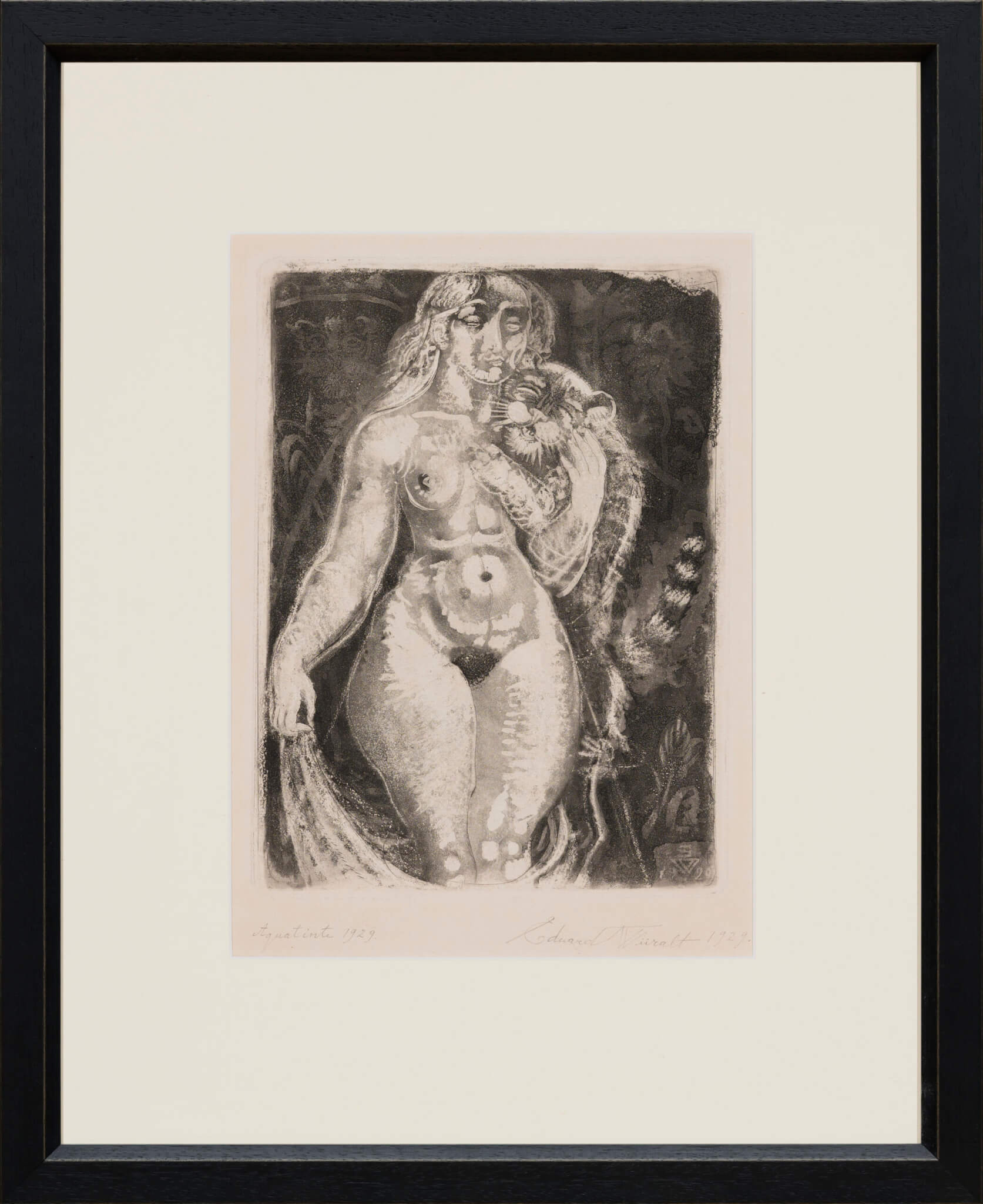 Eduard-Wiiralt-Naine-tiigripojaga-Allee-galerii-kunstioksjon