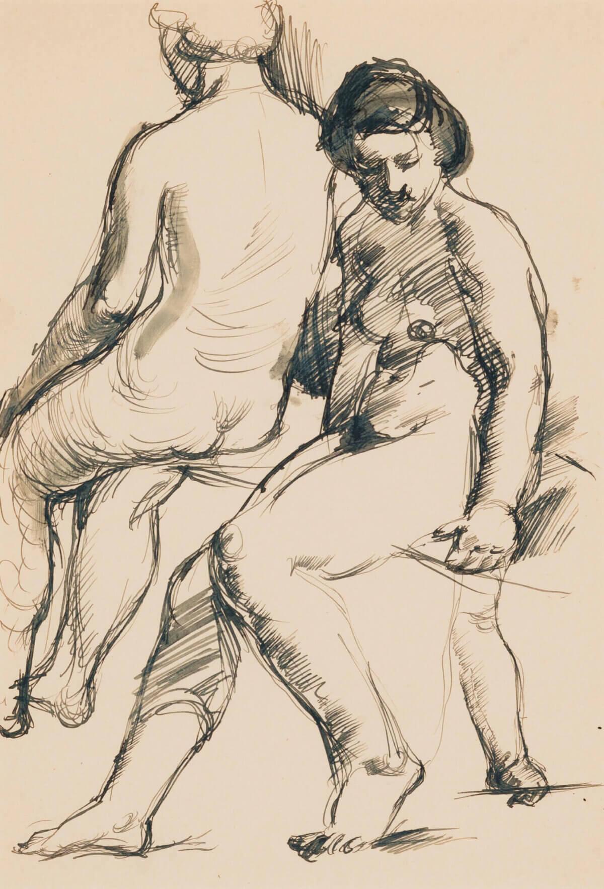 """51. KAAREL LIIMAND """"Kaks istuvat akti"""" 1932-1933"""