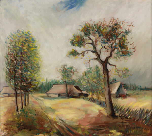 """48. ELMAR LEPPIK """"Talumaastik"""" 1938"""