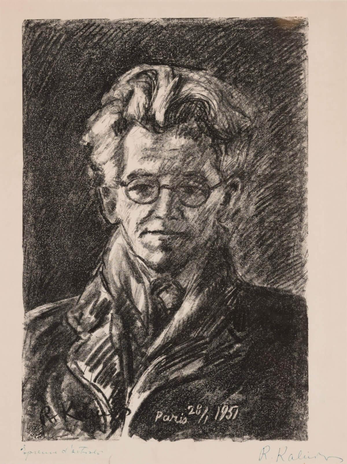 "36. REINHOLDS KALNINS ""Eduard Wiiralti portree"" 1951"