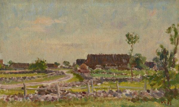 """34. JOHANNES VÕERAHANSU """"Saaremaa maastik"""" 1956"""