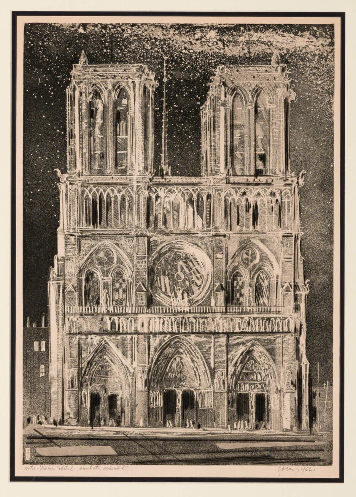 """27. EVALD OKAS """"Notre Dame õhtul"""" sarjast """"Pariis"""" 1962"""