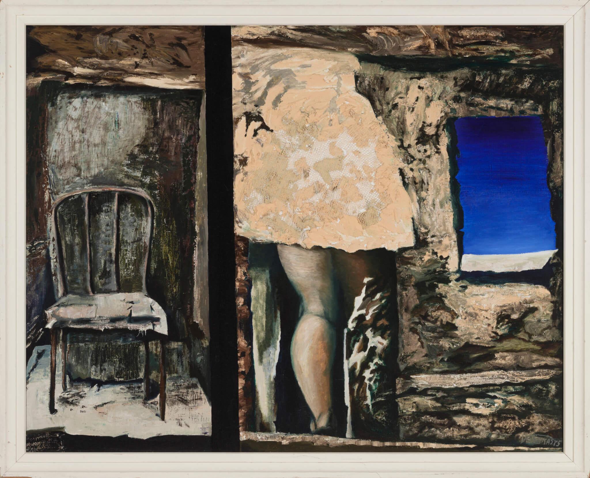 """Valdur Ohakas """"Vanas majas"""" 1975. 100 x 123"""