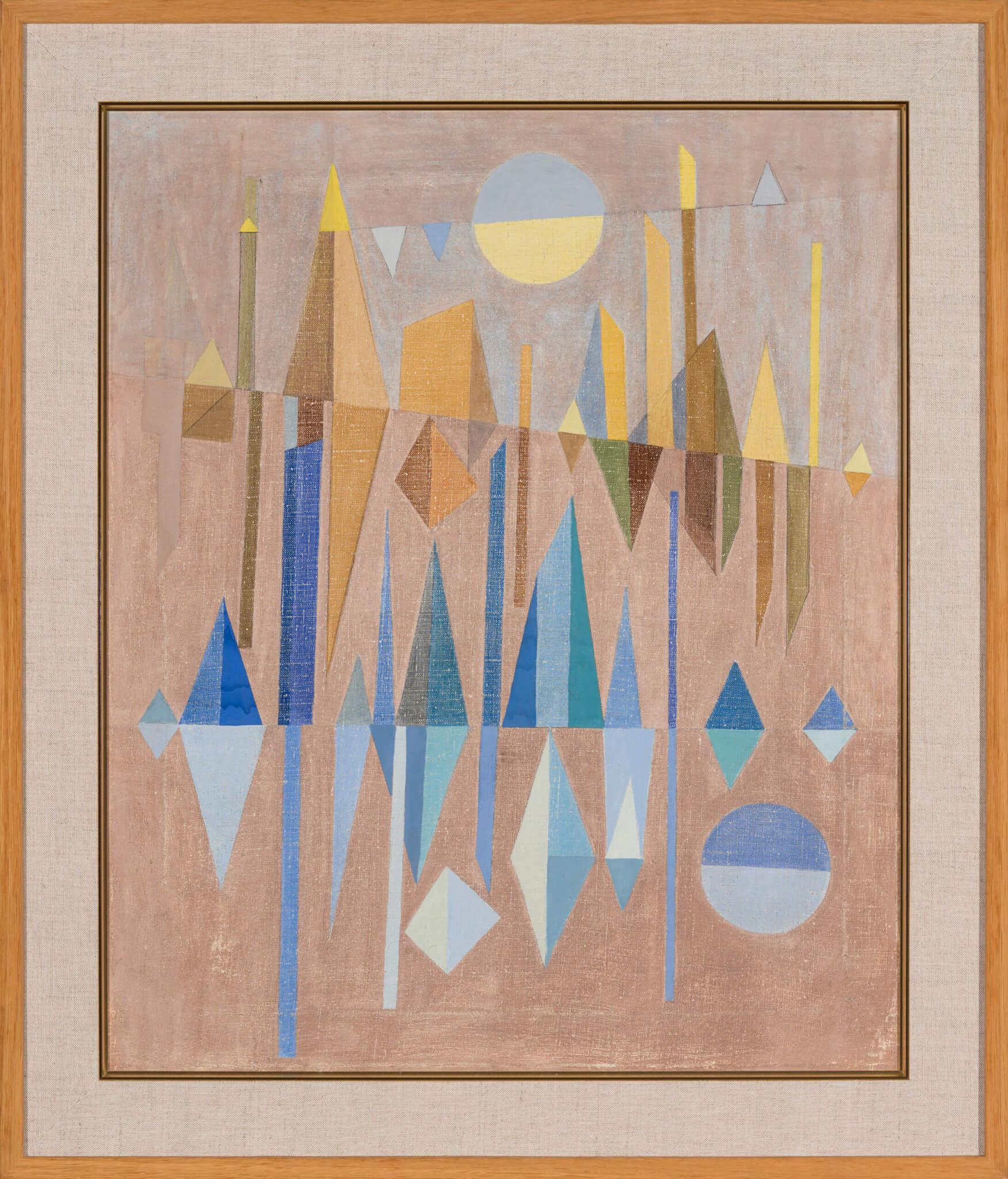 """Valve Janov """"Samarkandi muljed"""" 1964. 65 x 55"""