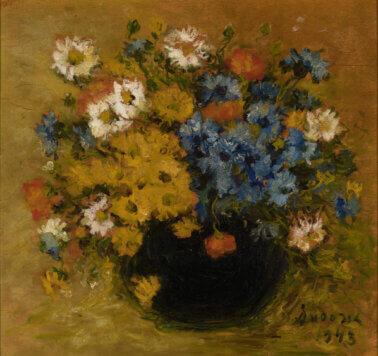 "Ann Audova ""Lilled vaasis"" 1943. 40 x 42,4"