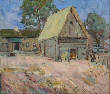 "Ado Vabbe ""Vana maja"" 1946. 42,5 x 50,7"