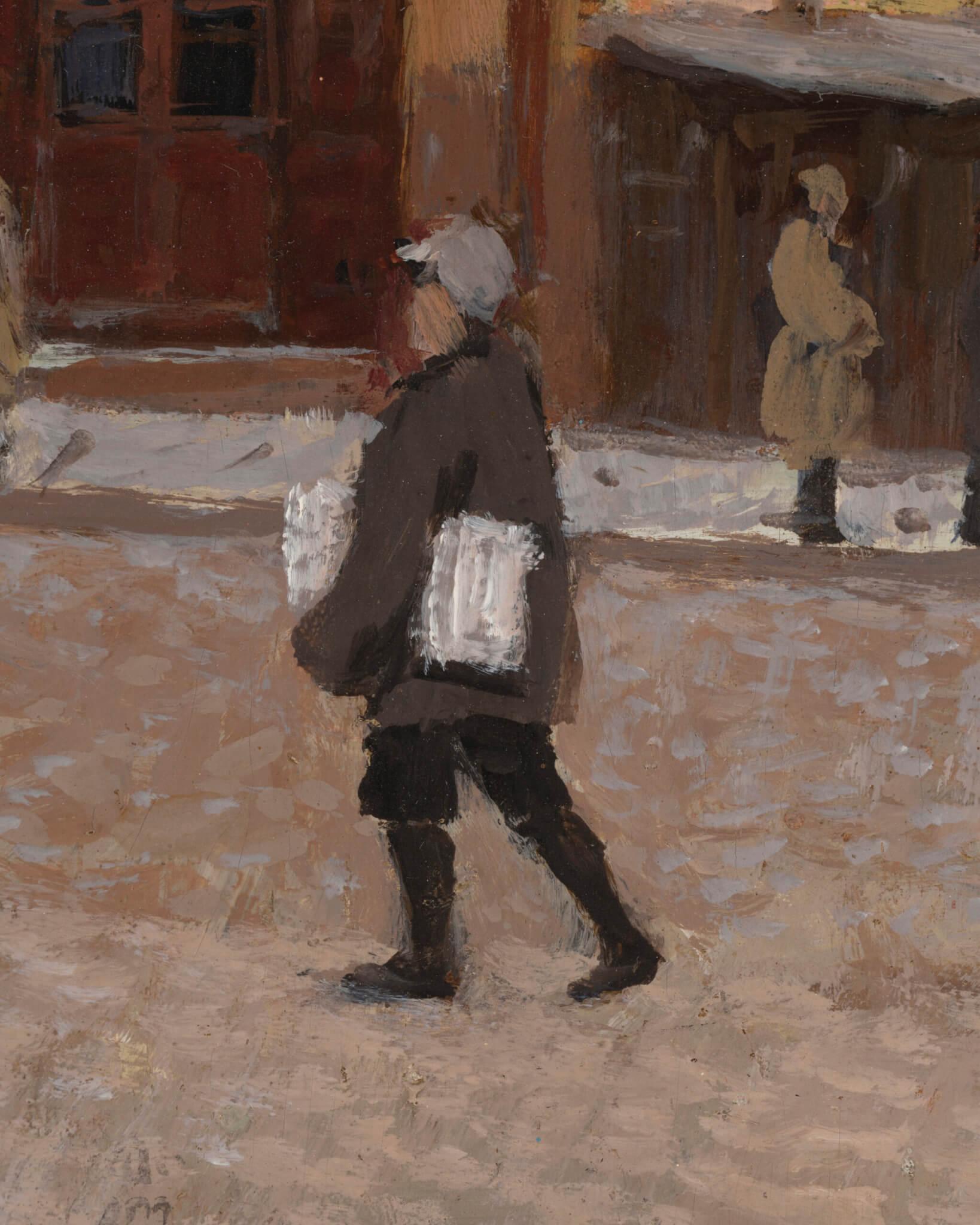 "Andrei Jegorov ""Raekoja plats/Vanaturu kael"" 1920ndad. 38,1 x 28,2"