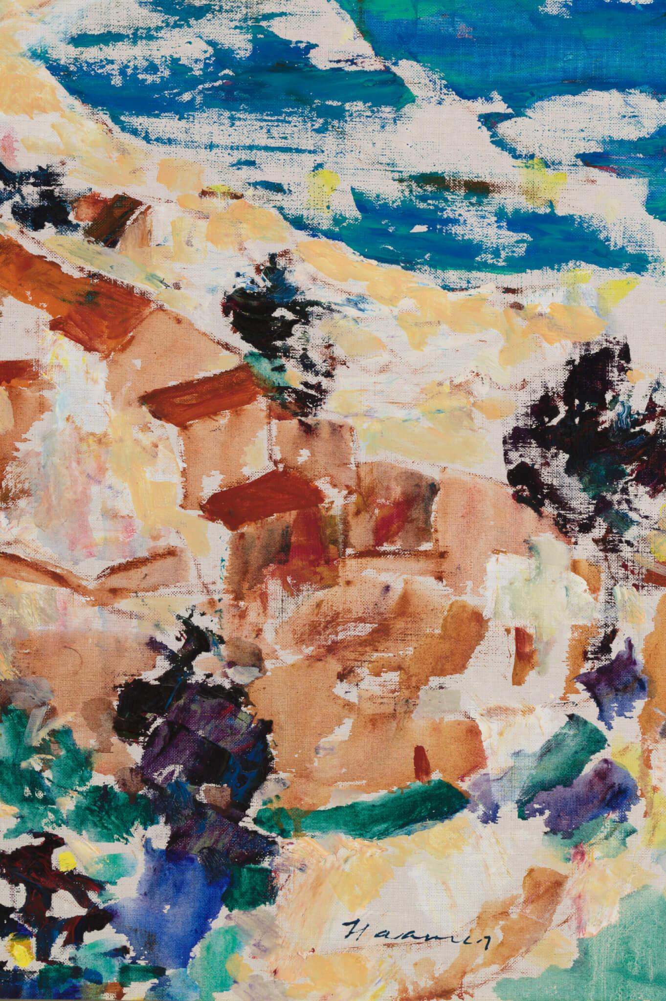 """Eerik Haamer """"Hispaania rannik"""" 1960-1965. 79 x 102"""