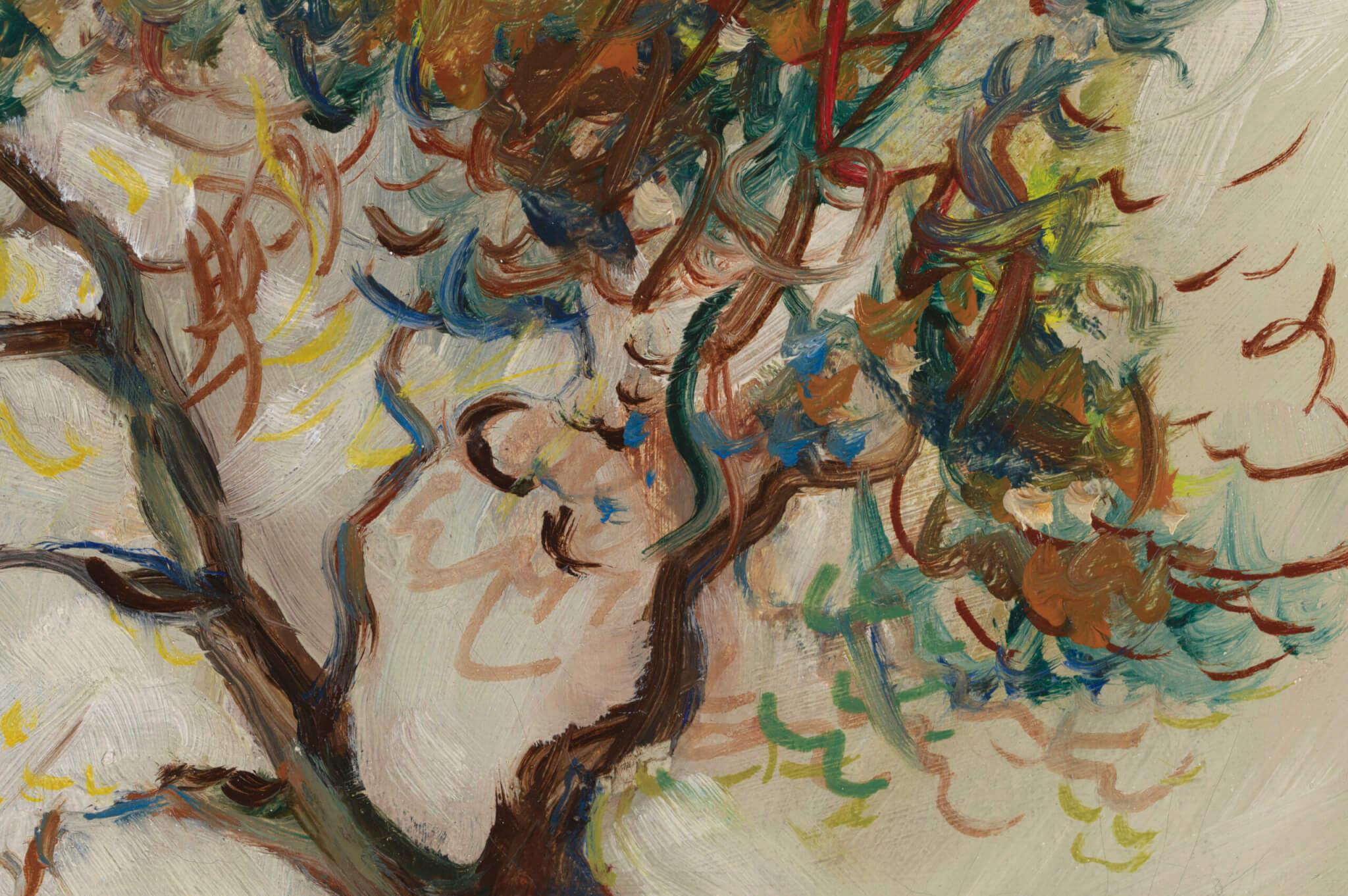 """Elmar Leppik """"Talumaastik"""" 1938 45,5 x 50,5"""