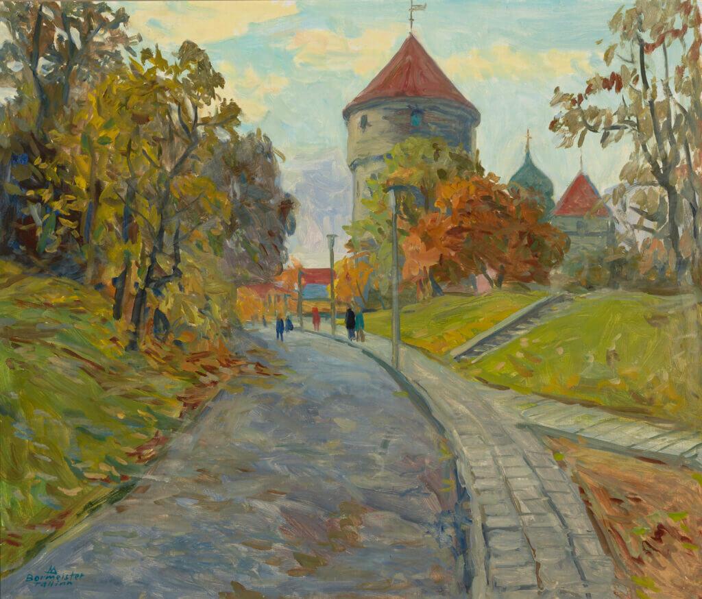 Märt Bormeister Tallinn. Vaade Harjumäelt Kiek in de Köki tornile