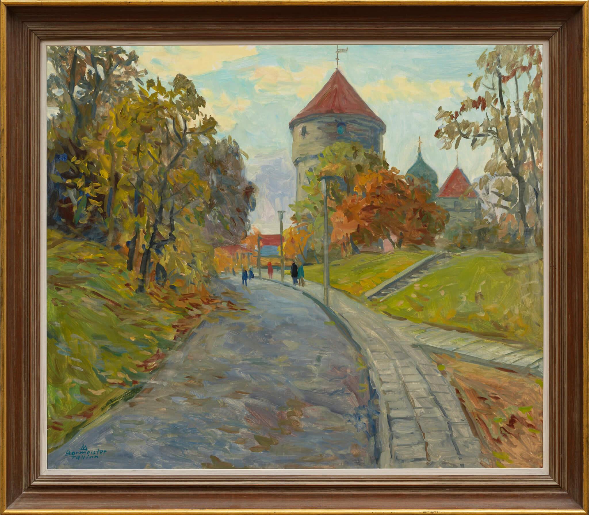 """Märt Bormeister """"Tallinn. Vaade Harjumäelt Kiek in de Köki tornile"""""""