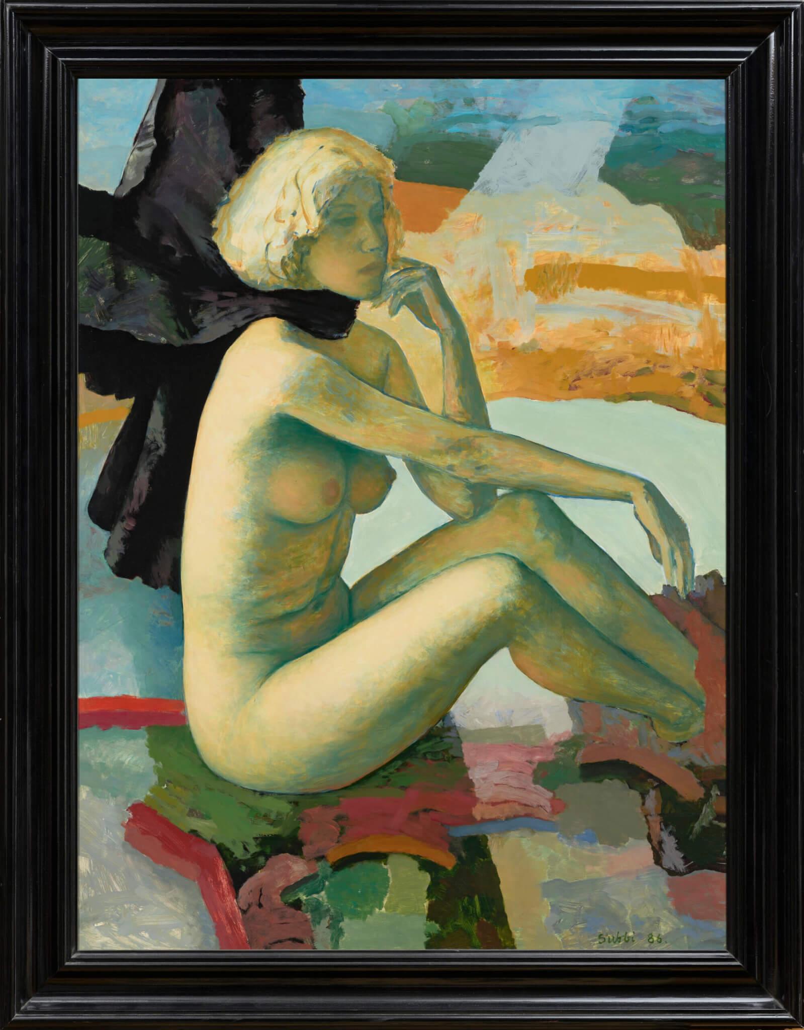 Olev-Subbi-akt-raamiga-Allee-galerii-sügisoksjon-2020