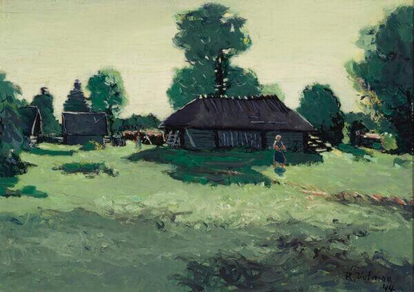 """Richard Uutmaa """"Kõrve talu"""" 1944. 30 x 42"""