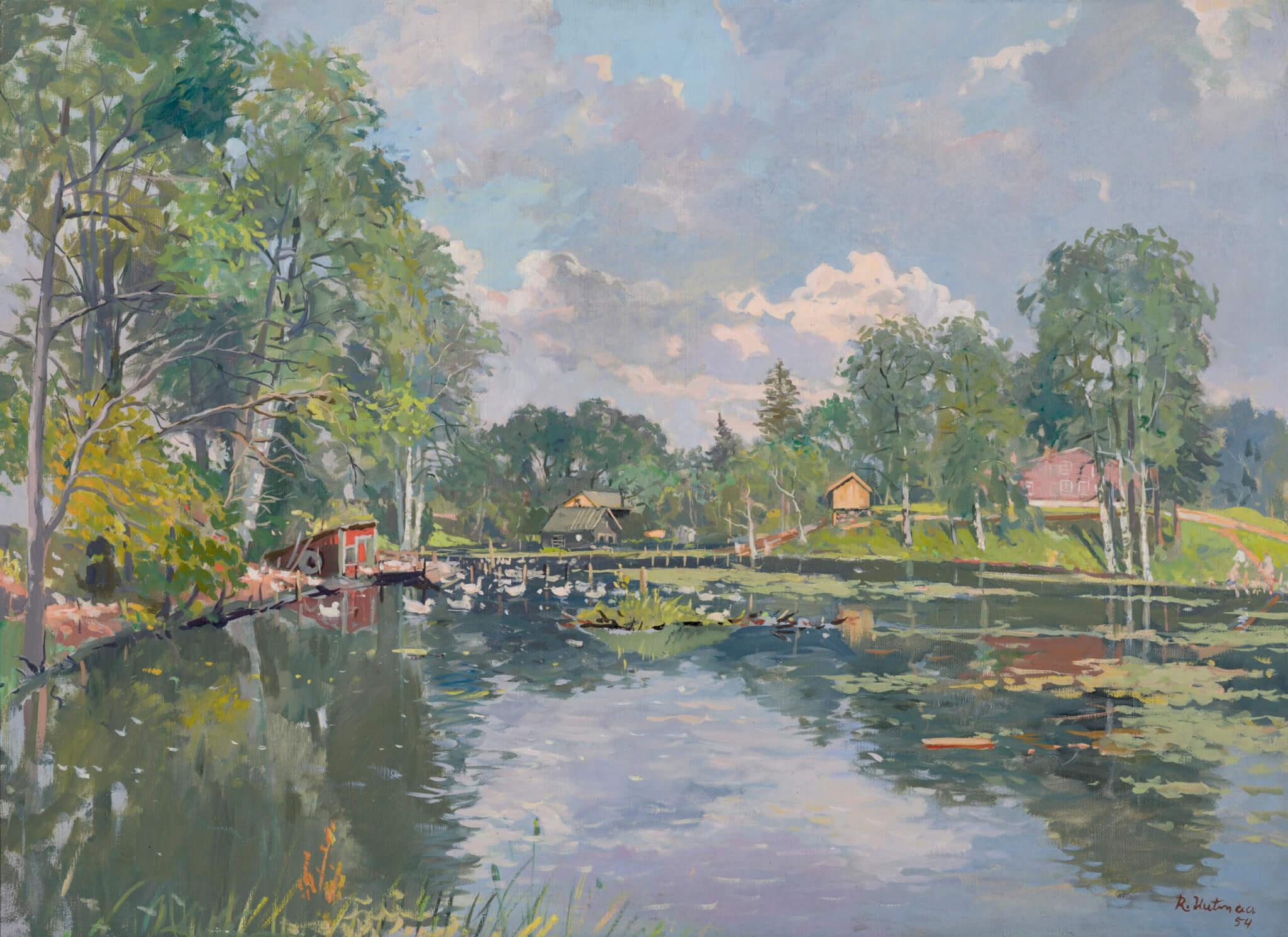 Richard-Uutmaa-kunstinäitus-Allee-galerii-Tallinnas-Kurtna-järv