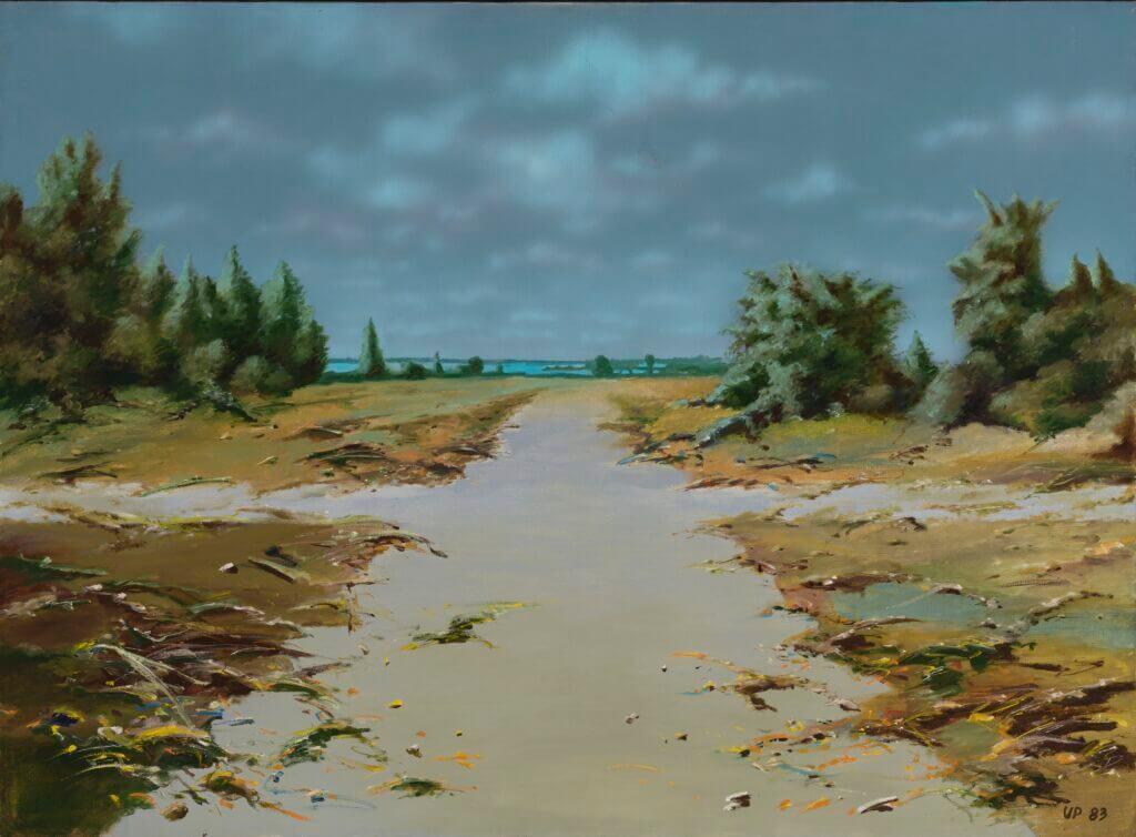 """Urmas Pedanik """"Teerist"""" 1983. 85 x 115"""