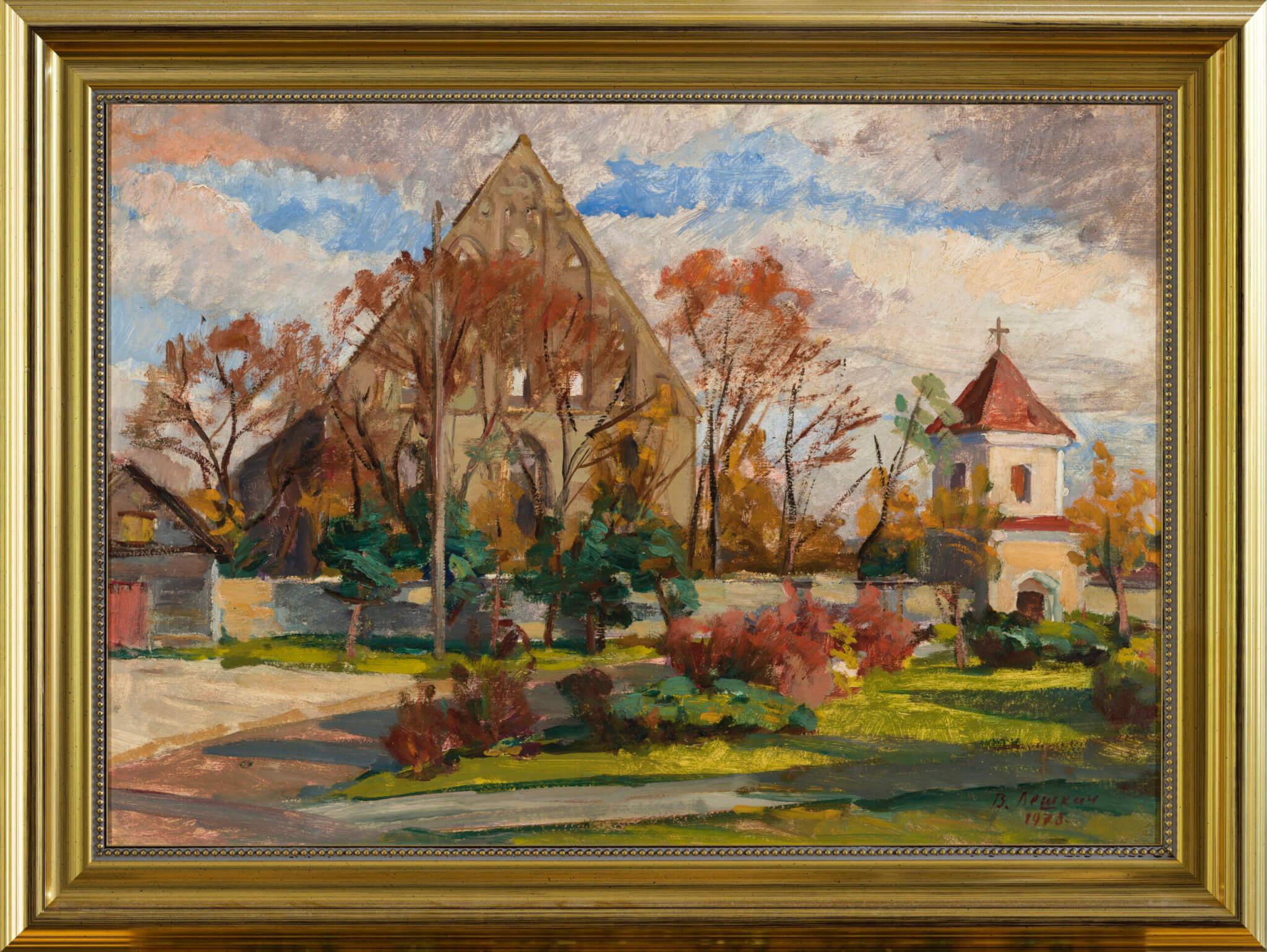 Viktor Leškin Pirita klooster sügisel. Õlimaal. Allee galerii