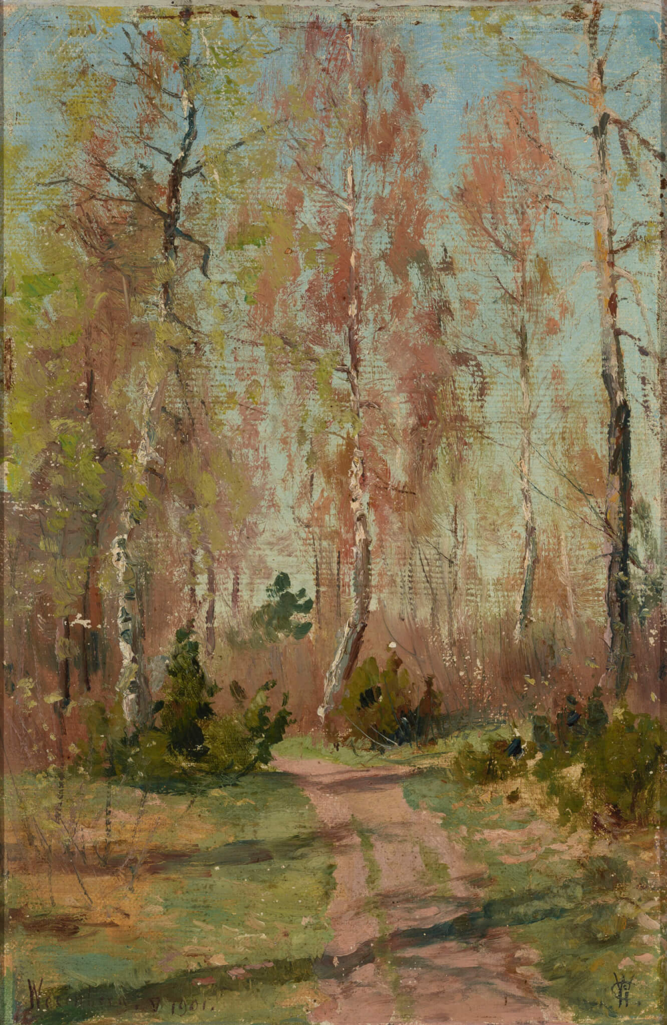"Carl Alexander von Winkler ""Maastik Rakvere lähedal (Wesenberg)"" 1901. 34,2 x 22,5"