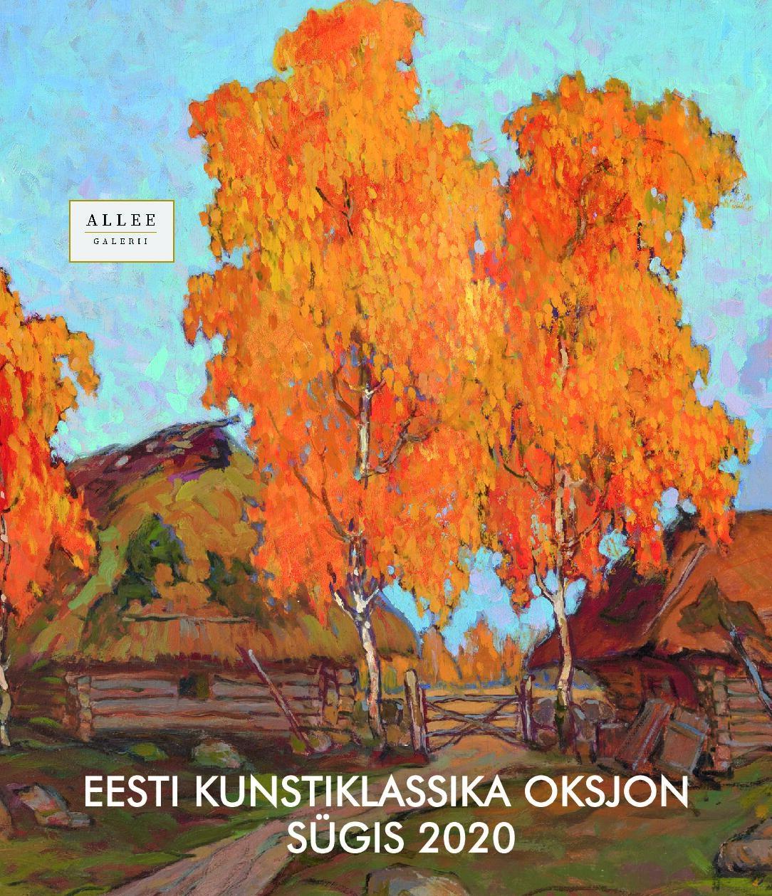 Näitusekataloog – Allee galerii Eesti kunstiklassika sügisoksjon 2020