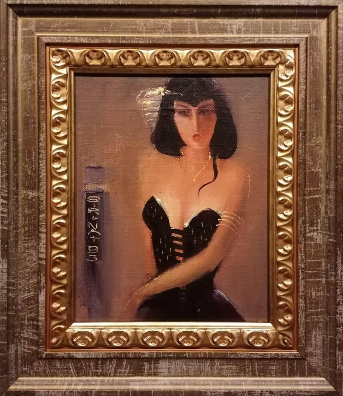 "Jüri Ristna ""Naine mustas kleidis"", 1993"