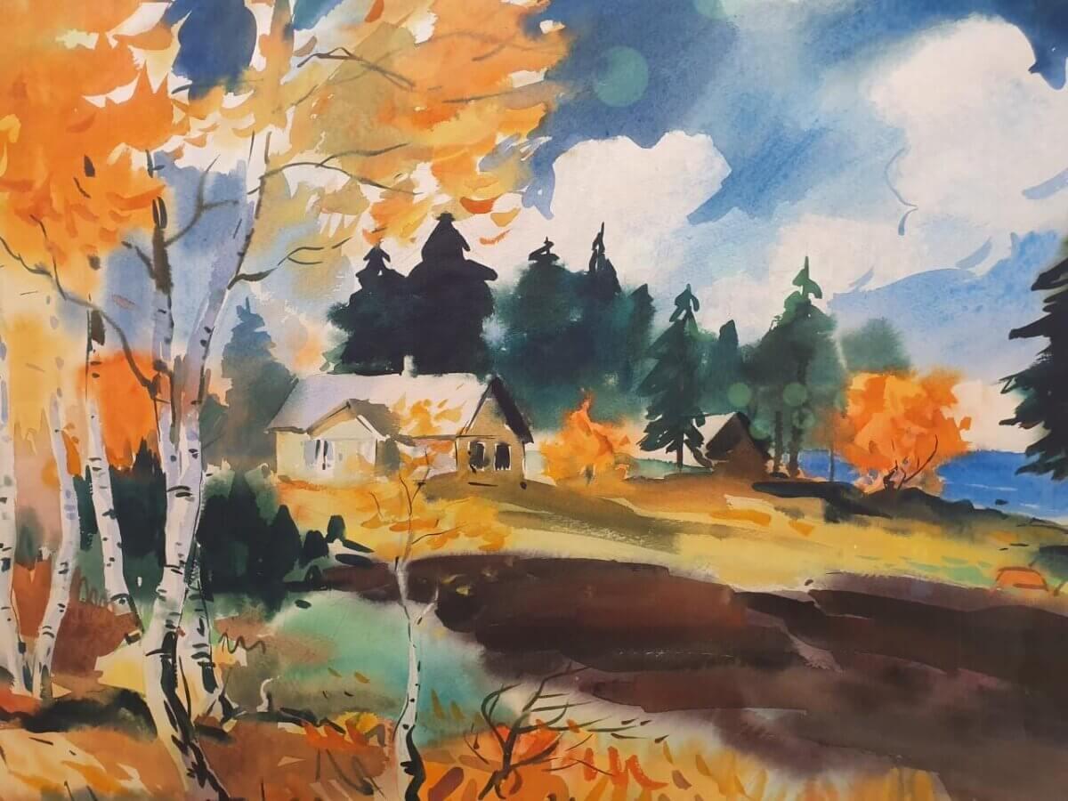 Richard-Uutmaa-akvarell-Eisma-müüa