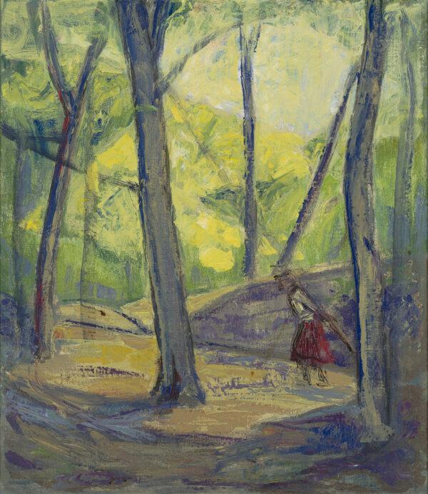 Eugeni(e)-Noormägi-Hansen-Üksik-uitaja-metsas-Allee