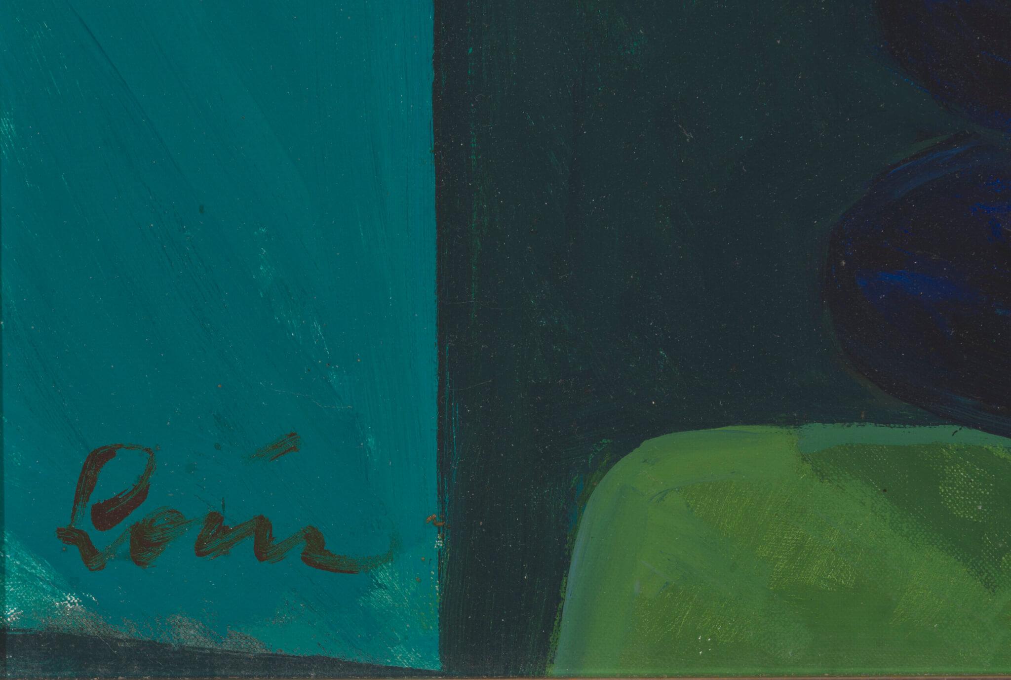 Valerian-Loik-Krüsanteemid-sinises-vaasis-Allee-kunstioksjon
