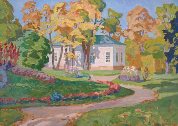 """2. ANATOLI KAIGORODOV """"Kadrioru lossi tiibhoone sügisel"""" 1920ndad"""