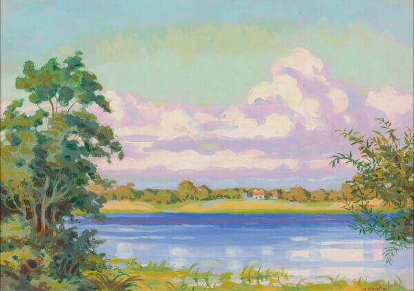 """3. PEETER ARNOLD VIHVELIN """"Narva jõel"""" 1920ndad"""