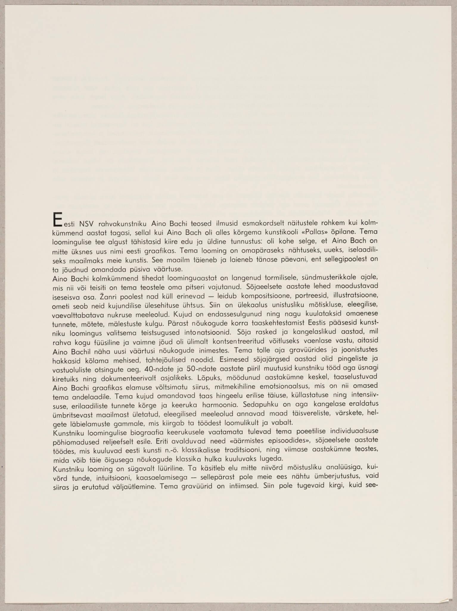 """Aino Bach """"Aias"""", 1964."""