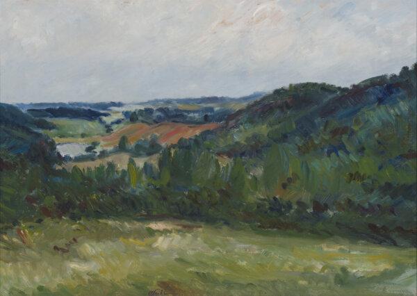 """17. ALEKSANDER VARDI """"Hellenurme maastik"""" 1946"""