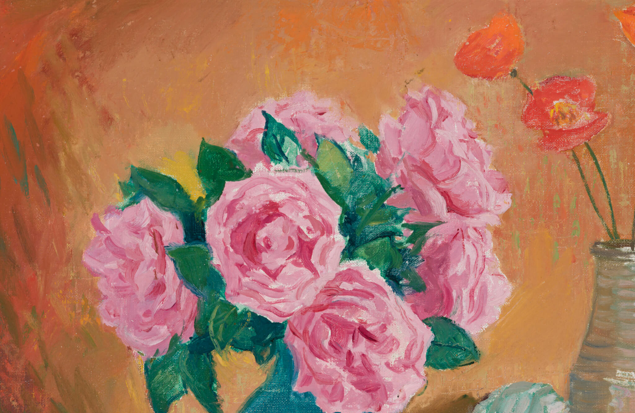 "Richard Uutmaa ""Roosid ja moonid"", 1976. 50,5 x 70,5 cm."