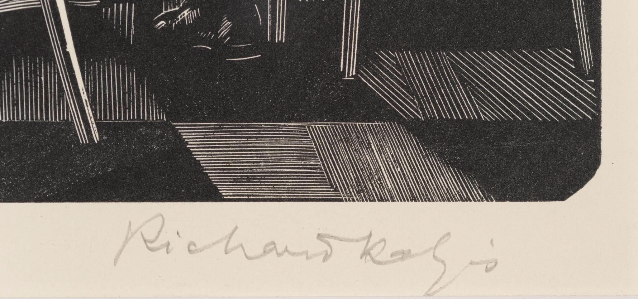 """Richard Kaljo """"Kohvik"""", 1961. 30,3 x 24,7 cm."""