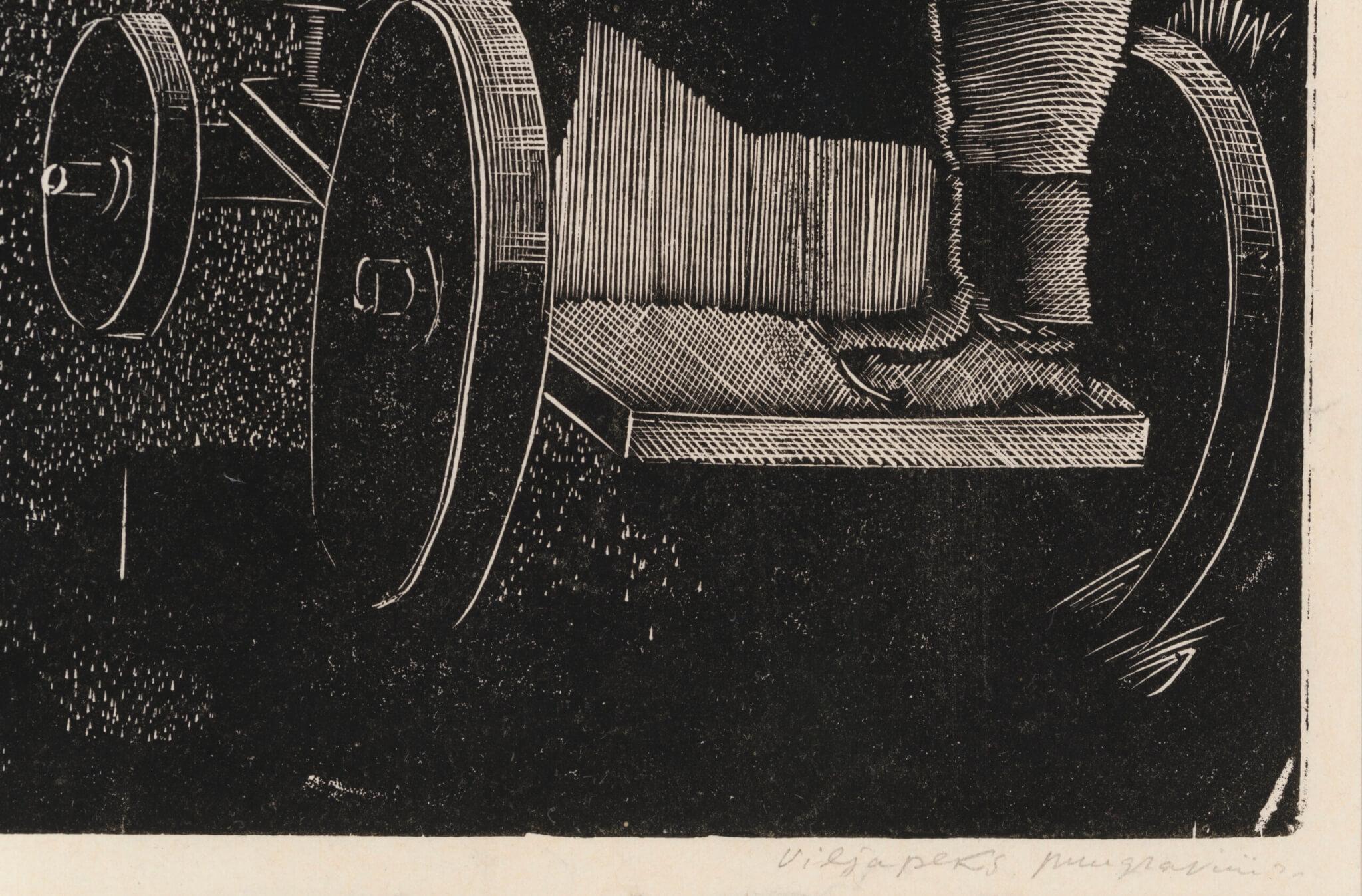 """Paul Liivak """"Viljapeks"""", 1937. 28,1 x 42,8 cm."""