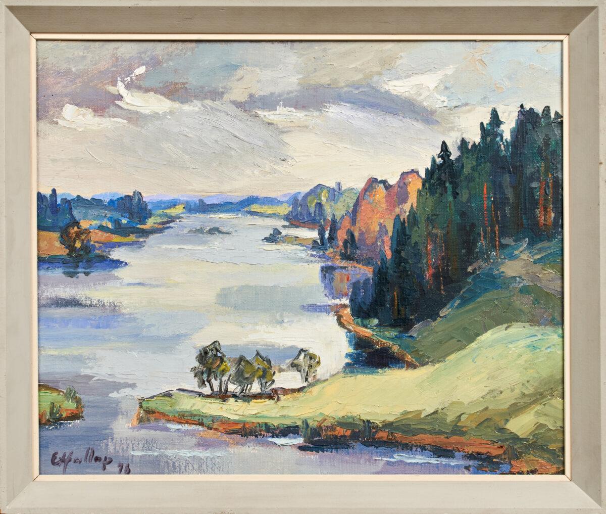 Ernst-Hallop-maal-Lõõdla-järv-Võrumaa