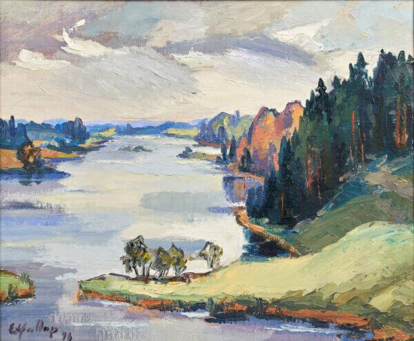 """49. ERNST HALLOP """"Lõõdla järv Võrumaal"""" 1976"""