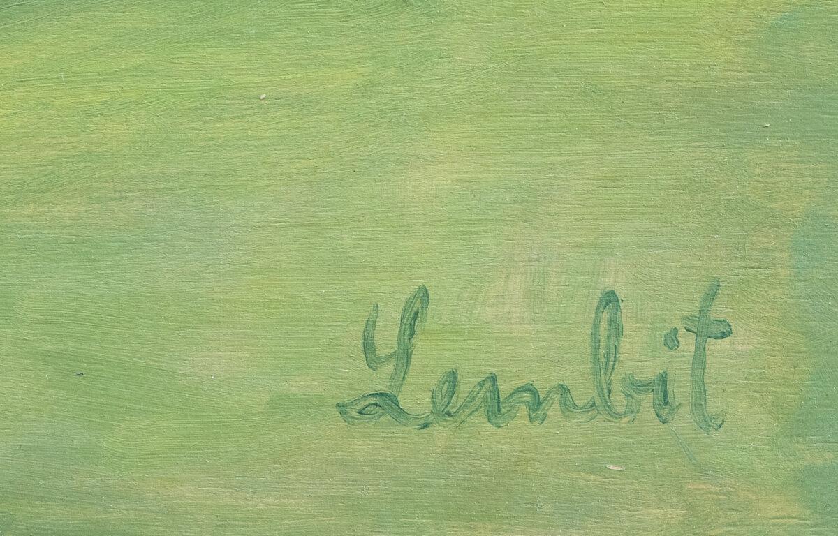 """Lembit Sarapuu """"Muna"""", 1960ndad. 42,3 x 54,5 cm."""