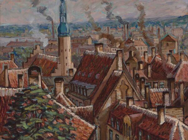 """10. NIKOLAI KULL """"Tallinna vaade Toompealt"""" 1930ndad/1940ndate algus"""