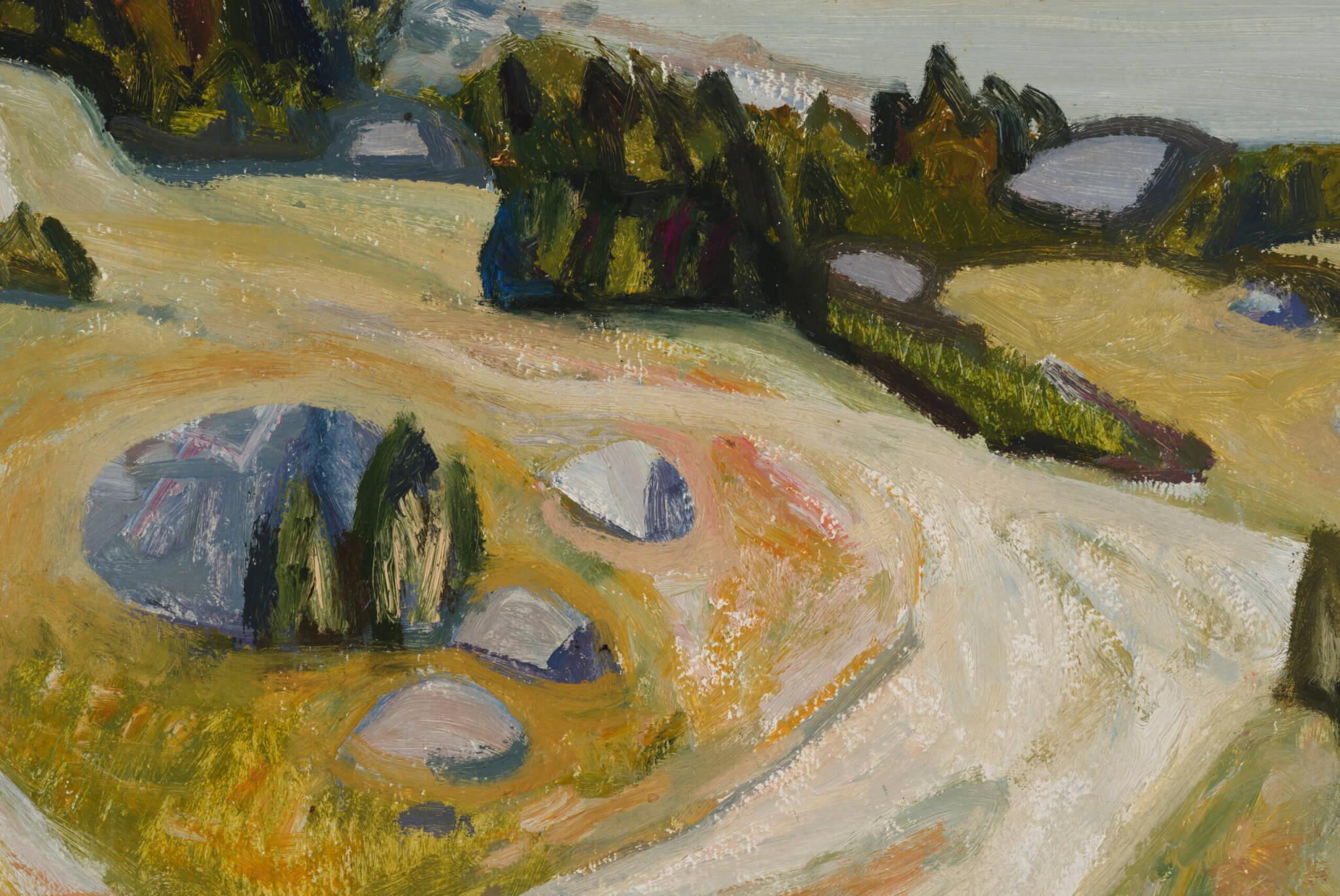 """Valdur Ohakas """"Kadakad"""", 1966. 46 x 67 cm."""