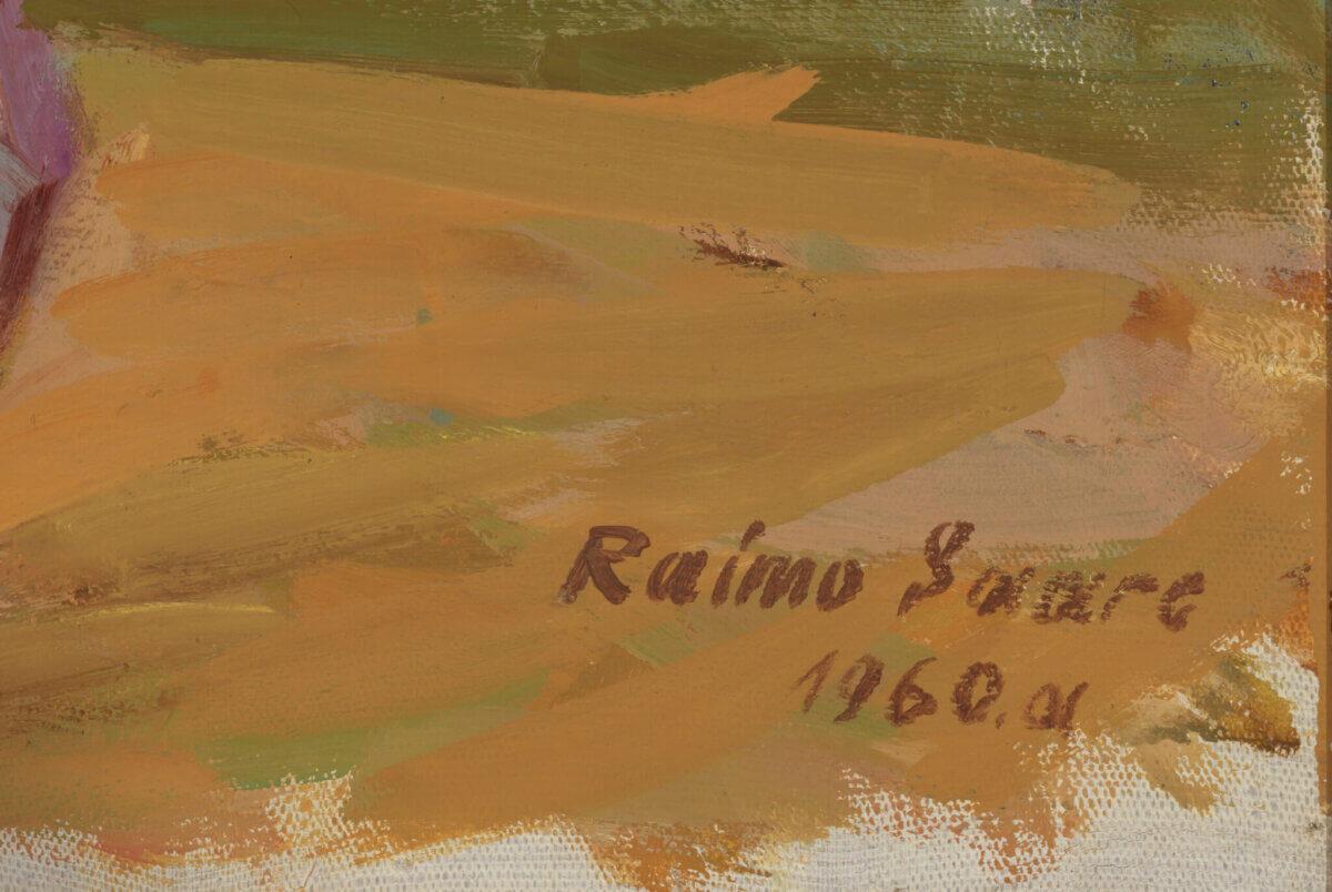 """Raimo Saare """"Punapäine modell"""", 1960. 96,5 x 67,6 cm."""