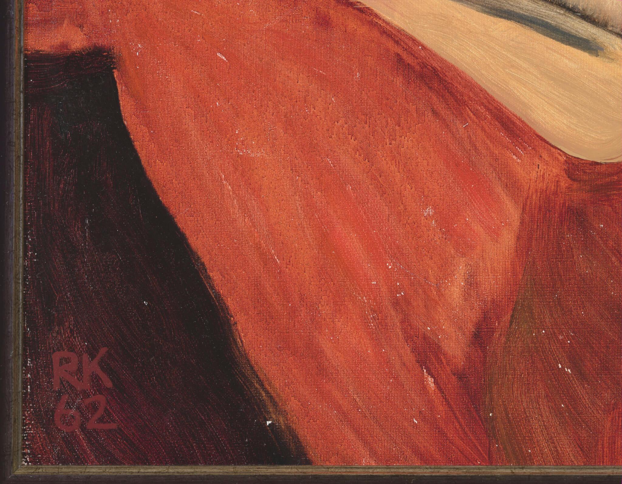 """Raivo Korstnik """"Lamav akt ja kuu"""", 1962. 36 x 50 cm."""