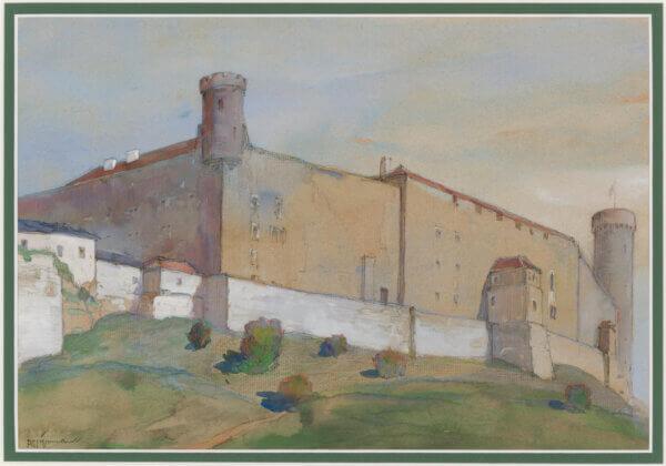 "9. ROMAN NYMAN ""Toompea vaade (Das Schloss in Reval)"" 1941"