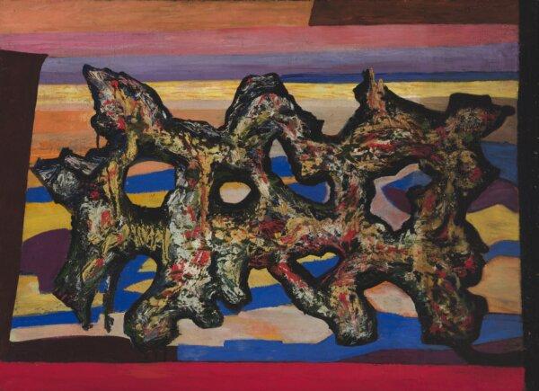 Valdur-Ohakas-maal-Abstraktne-vorm-mererannas