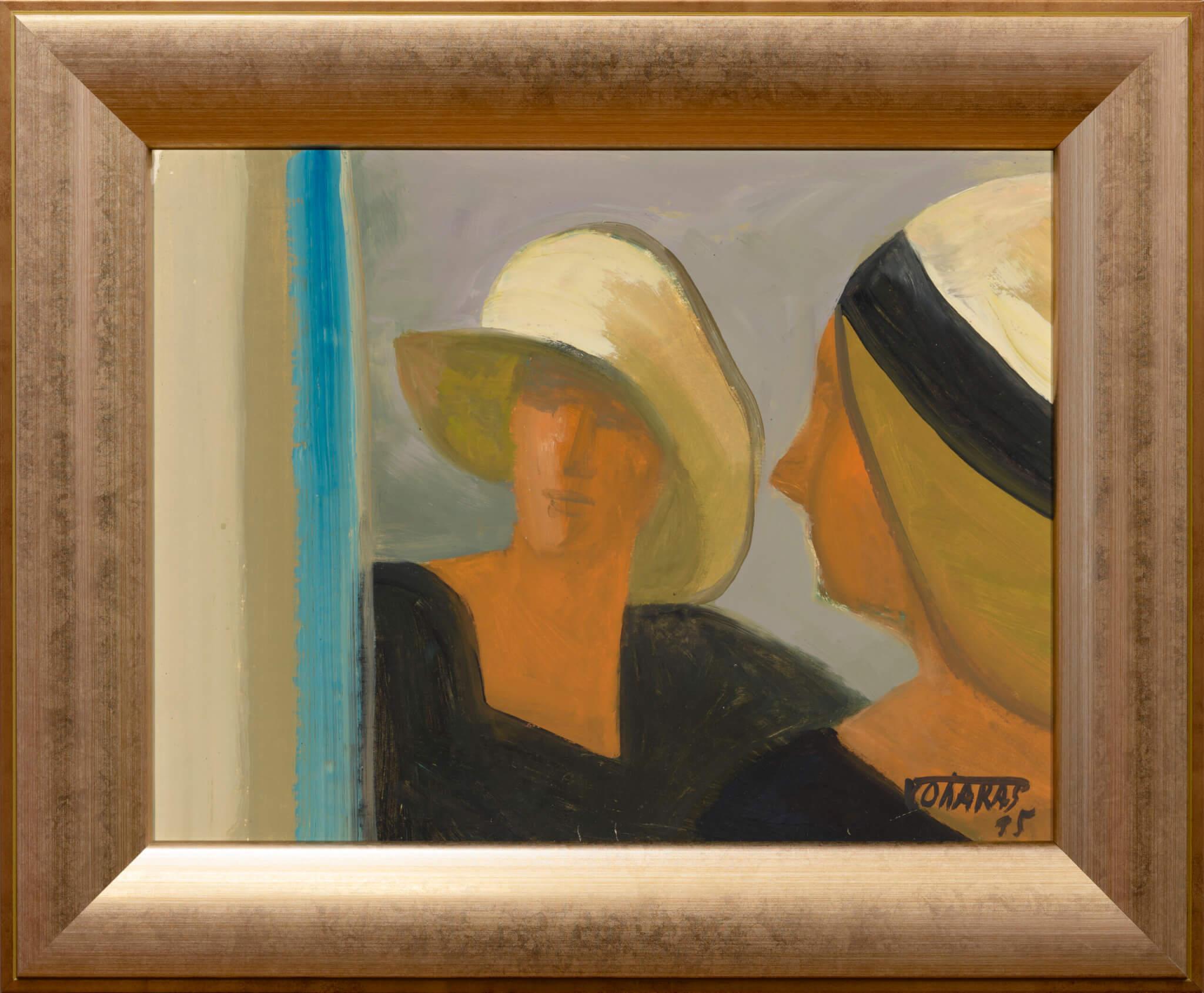 """Valdur Ohakas """"Kaks elu"""", 1995. 30 x 40 cm."""