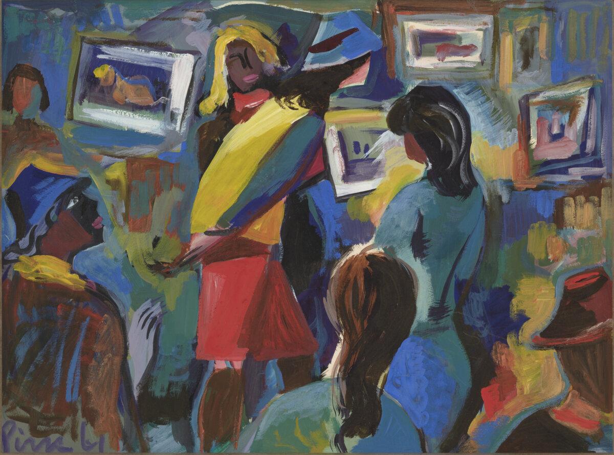 """30. VARMO PIRK """"Kunstinäitusel"""" 1961"""