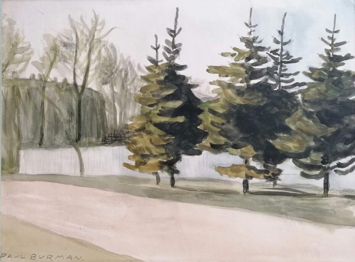 Paul-Burman-akvarell-müüa