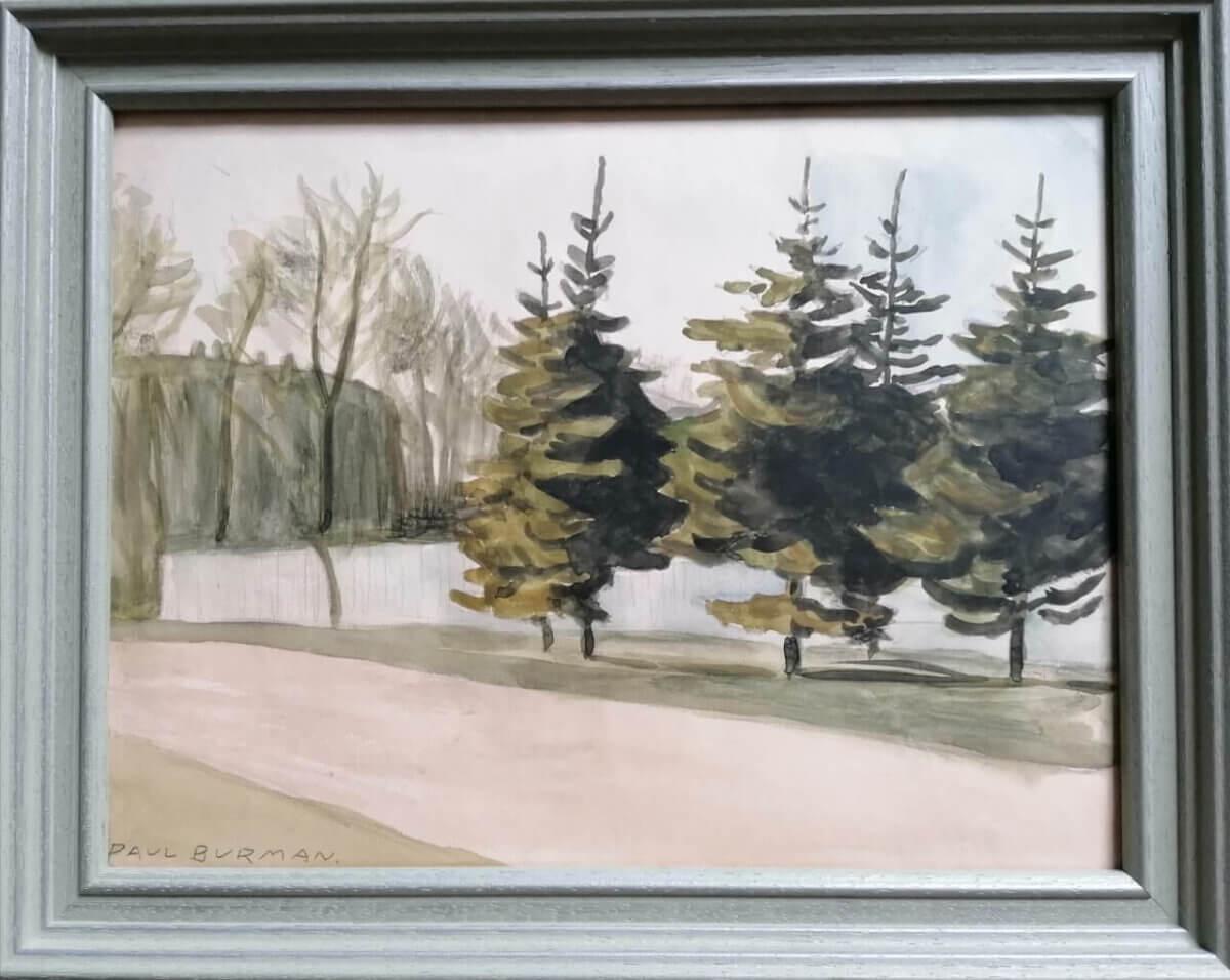 Paul-Burman-müüa-akvarell